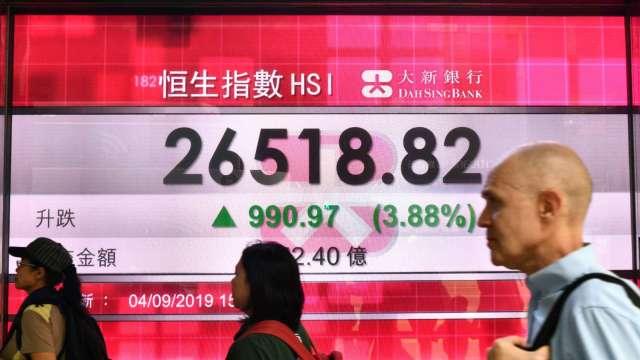 越跌越買 南向資金掃港股 今年買超逼近3000億港元(圖片:AFP)
