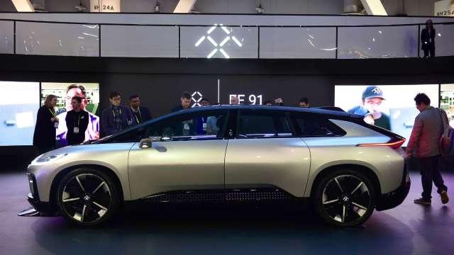 法拉第未來電動車可望由吉利與富士康合資公司代工(圖片:AFP)