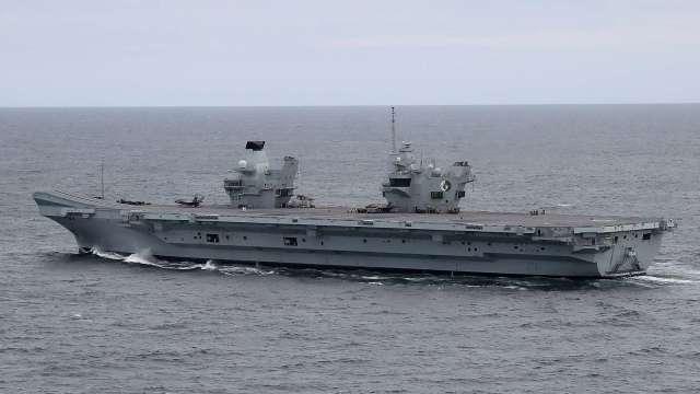 日英「二加二」即將召開 預料日本將支持英國航母戰鬥群巡弋東亞 (圖片:AFP)