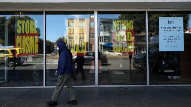 疫情打擊零售業 今年空將有多達1萬家門市關閉(圖片:AFP)