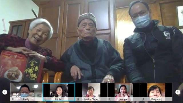 台灣大運用數位科技力,連續14年關懷花蓮獨居長輩不間斷。(圖:台灣大提供)