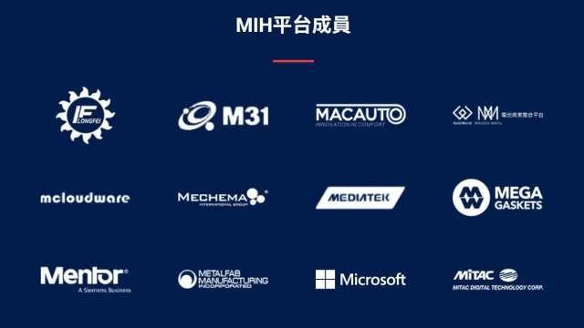 鴻海MIH平台成員,第二行二列為美琪瑪。(圖:擷取至鴻海官網)