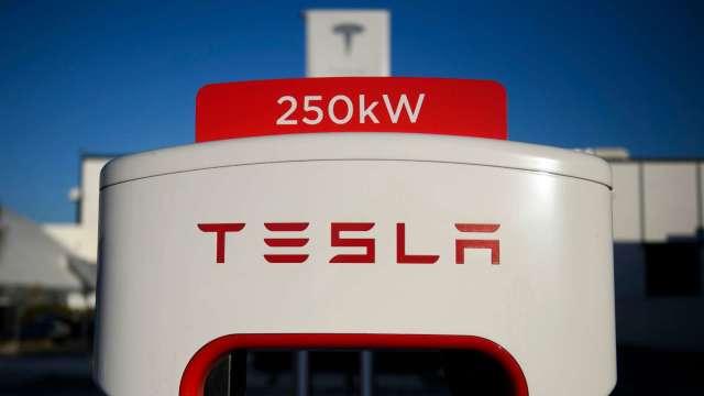 特斯拉在中國投產「V3 Supercharger」快速充電樁 (圖片:AFP)