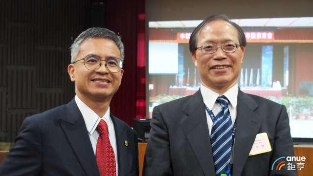圖左為中華電總經理郭水義、右為董事長謝繼茂。(鉅亨網資料照)