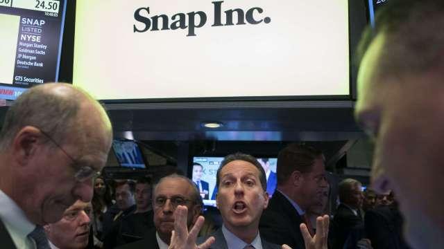 〈財報〉Snap Q4表現亮眼 但Q1財測太黯淡 盤後一度重挫10%(圖片:AFP))