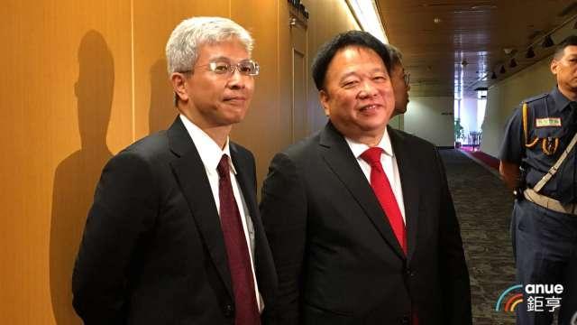 TPK-KY加入MIH電動車聯盟,宸鴻董事長江朝瑞(右)、總經理謝立群(左)。(鉅亨網資料照)