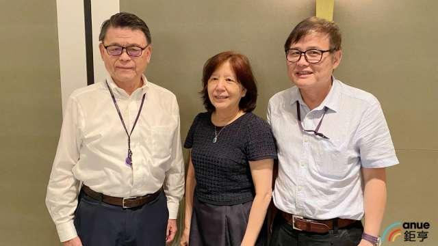 左至右為藥華藥執行長林國鐘、董事長詹青柳及總經理黃正谷。(鉅亨網資料照)