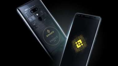 加密智慧型手機EXODUS 1-Binance版。(圖:宏達電提供)