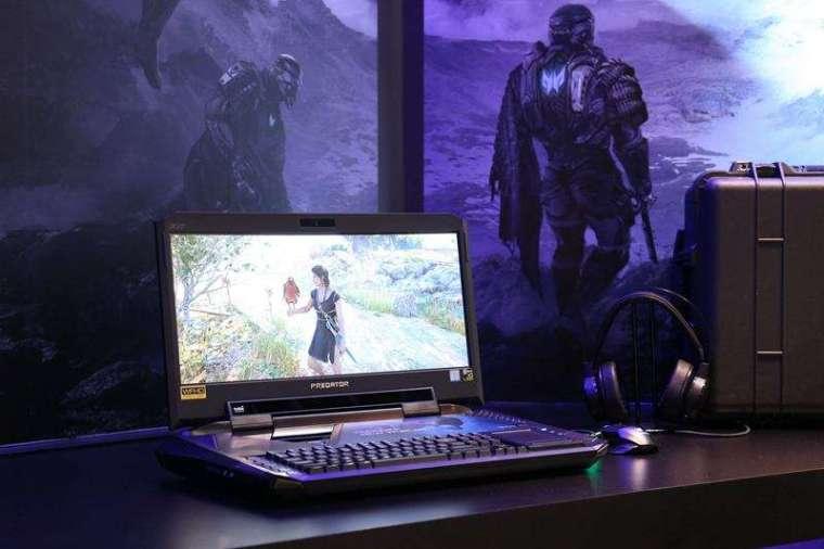 宏碁2015年跨足電競筆電市場,推出掠奪者系列(Predator)筆電,最頂級的Predator X,要價近新臺幣30萬元,為當時全球最貴的筆電。(宏碁提供)