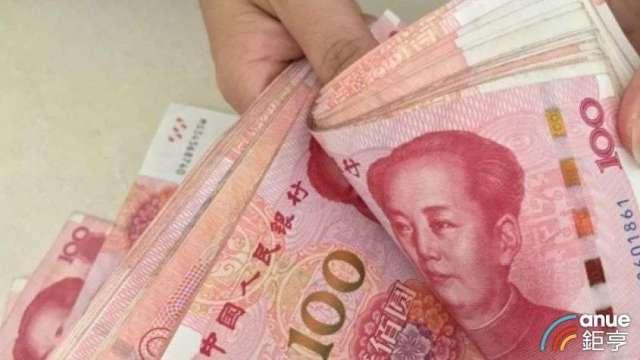 美元彈升  瑞銀點名三大原因推升人民幣走勢。(鉅亨網資料照)