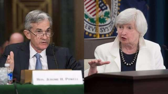葉倫、鮑爾推動刺激之餘也開始警惕金融市場的泡沫跡象。(圖:AFP)