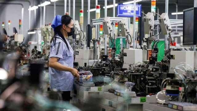 年前備貨效應 1月工業生產指數年增18.81% 創歷史次高。(圖:AFP)