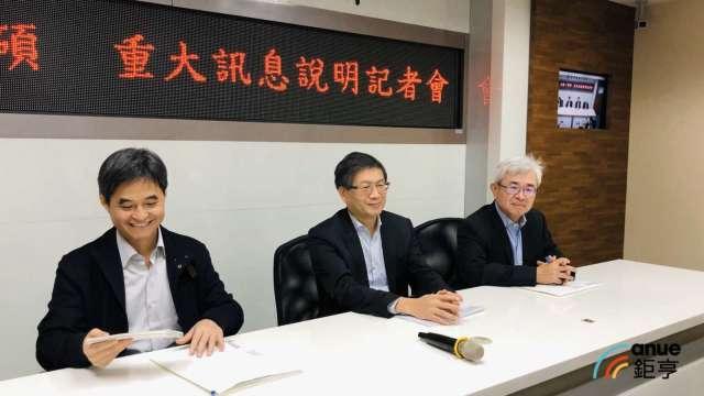 左至右為文曄董事長鄭文宗、祥碩董事長沈振來、祥碩總經理林哲偉。(鉅亨網資料照)