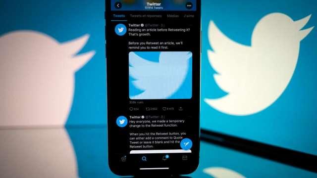 推特宣布2023年實現營收翻倍 盤中漲近10% (圖:AFP)