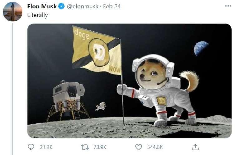 狗狗幣登陸星球 (圖片:翻攝馬斯克推特)