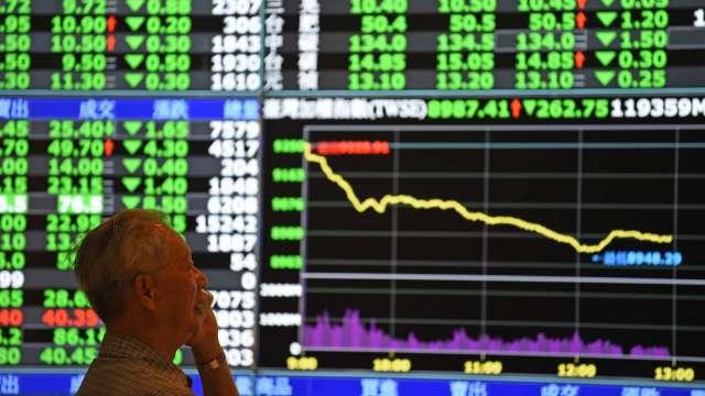 台股重挫近500點 外資單日狂殺944億爆天量 三大法人賣超1008.01億元。(圖:AFP)