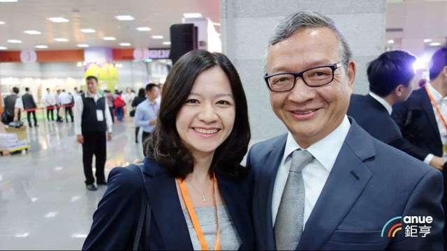 尖點董事長林序庭(右)及總經理林若萍。(鉅亨網記者張欽發攝)