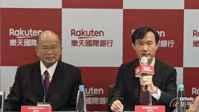 (左起)樂天國際銀行董事長簡明仁、總經理佐伯和彥。(鉅亨網資料照)