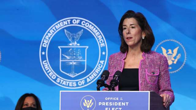 羅德島女州長雷蒙多將出任商務部長 (圖:AFP)
