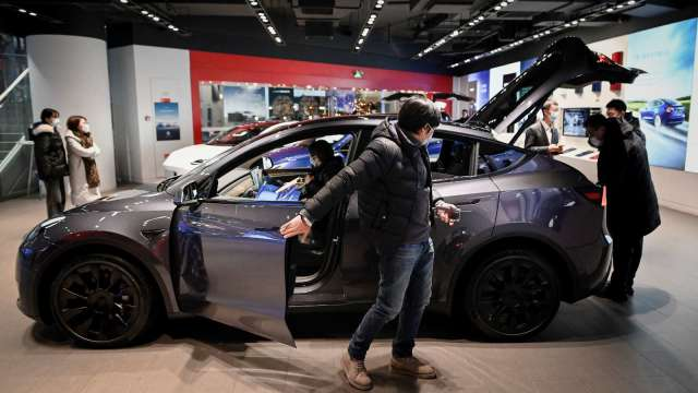 特斯拉澄清上海工廠未被駭客入侵 (圖片:AFP)