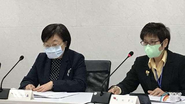 財政部次長李慶華(左)與賦稅署署長許慈美(右)說明房地合一稅修法重點。(鉅亨網記者郭幸宜攝)