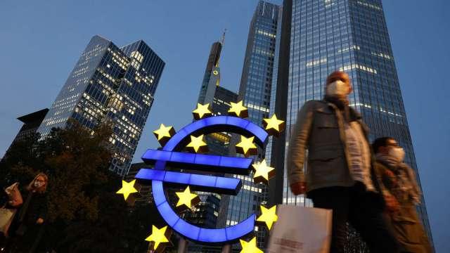 ECB加速購債腳步 歐債殖利率全面走跌。(圖:AFP)