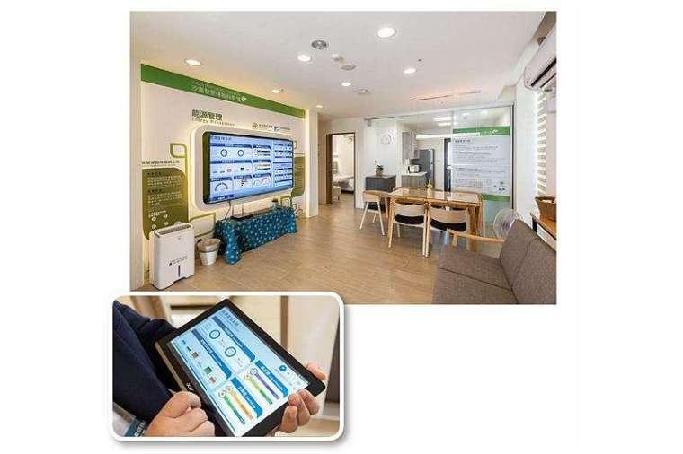 節能展示屋猶如微型電網,屋內家電彼此互聯,一鍵設定就能連動運作,自動優化電力供應,達到節能目的。