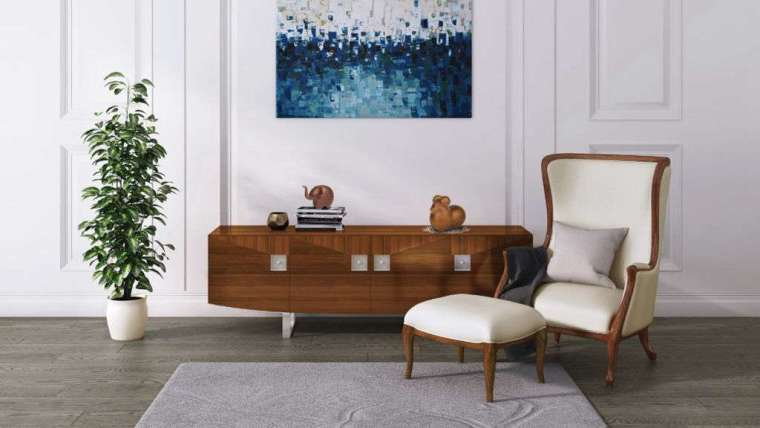 微笑 - 胡桃木邊櫃 (中) 特價 62,160 元,原價 $111,000 元。(圖:科定提供)
