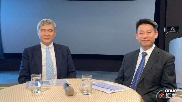 台達電董事長海英俊(左)及執行長鄭平。(鉅亨網記者彭昱文攝)