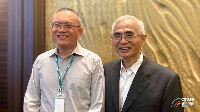 友訊總經理陳瑋駿(左)及董事長李中旺。(鉅亨網資料照)