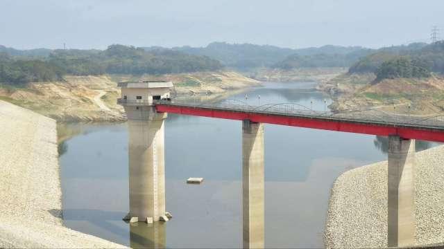 寶二水庫蓄水量僅剩9.9% 大新竹用水將面臨供5停2。(圖:新竹縣府提供)