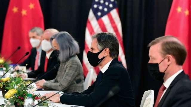 美中高層會談唇槍舌戰 美:歡迎激烈競爭 力挺盟友(圖:AFP)