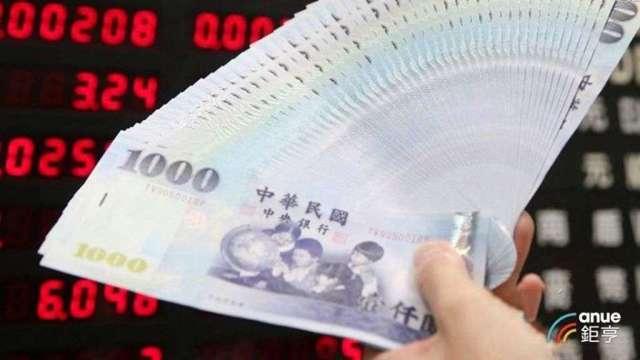 台幣今日罕見貶值開出。(鉅亨網資料照)