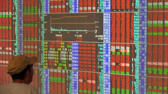 鴻海、聯電雙強領軍 台股上漲118點收16189點奪回月線。(圖:AFP)