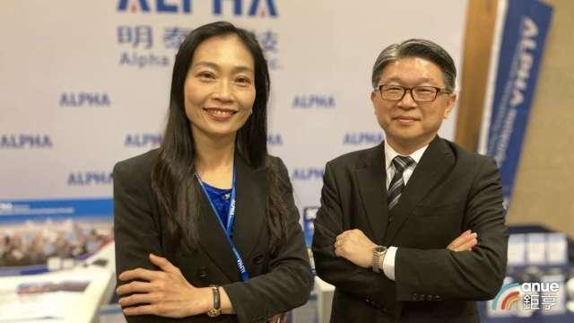 明泰董事長黃文芳(左)及總經理林裕欽。(鉅亨網記者彭昱文攝)
