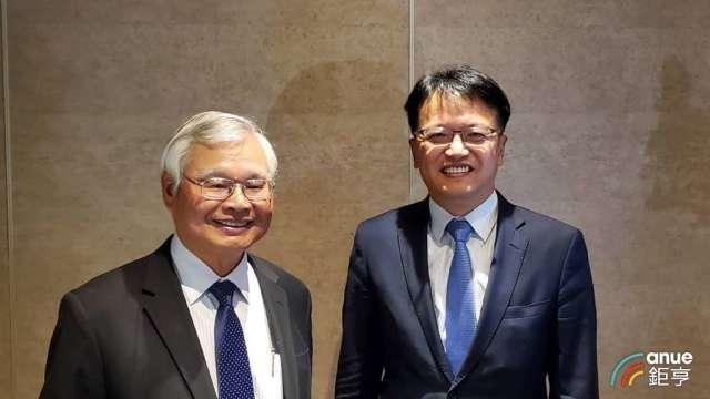 和潤董事長田天明(左)和總經理林彥良(右)。(鉅亨網記者王莞甯攝)