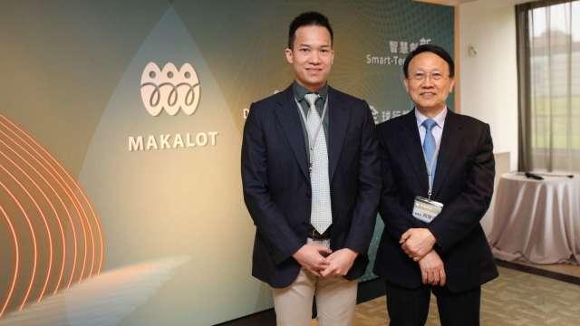 聚陽董事周心鵬(左)及董事長周理平。(圖:聚陽提供)