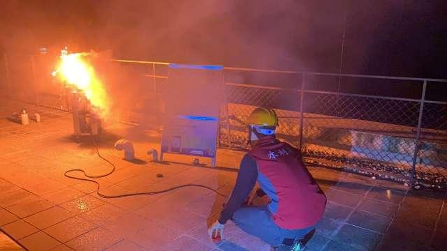 曾文水庫 24 日凌晨進行人工增雨作業。(圖:水利署提供)