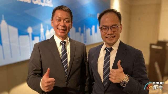 臺慶科董事長謝明諺(左)及總經理謝明良。(鉅亨網記者彭昱文攝)