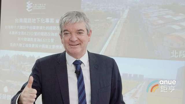 就任滿兩年的大陸工程執行長Mr. Simon Buttery。(鉅亨網記者張欽發攝)