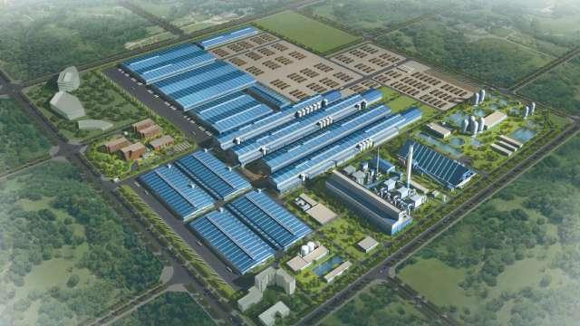 正隆越南平陽造紙廠展開第二期年產40萬公噸工紙計畫,預計2021年第四季投產。(圖:正隆公司提供)