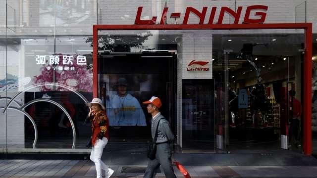 李寧標籤註明採用新疆棉 「棉花公主」登熱搜。(圖:AFP)
