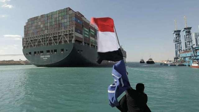 長賜號打直、運河將雙向通行 當局估四天內恢復正常運作 (圖:AFP)
