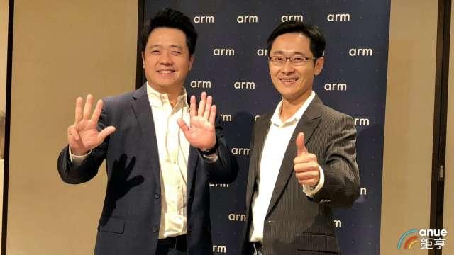 右至左為Arm台灣總裁曾志光、應用工程總監徐達勇。(鉅亨網記者魏志豪攝)