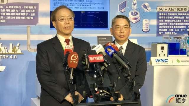 左至右為中華電信董事長謝繼茂、中華精測董事長林國豐。(鉅亨網記者魏志豪攝)