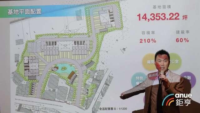 興富發與新隆儲運簽訂都更合建案 ,在汐止開發8.6萬坪廠辦。圖為興富發副總廖昭雄。(鉅亨網記者張欽發攝)