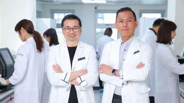 慧智基因董事長暨執行長蘇怡寧(左)與慧智基因總經理洪加政(右)。(圖:慧智提供)