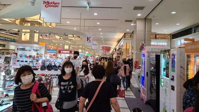 環球購物中心連假業績大增40%。(圖:環球購物提供)