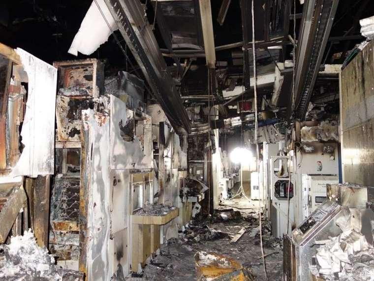 3 月 19 日火災現場。來源: 瑞薩電子