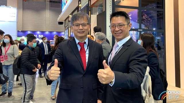 群創董事長洪進揚(右)、總經理楊柱祥(右)。(鉅亨網資料照)